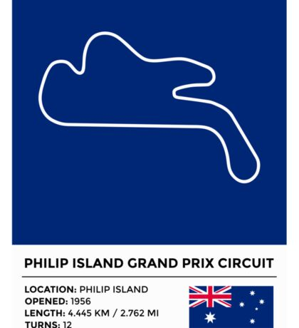 Philip Island Grand Prix Circuit - v2 Sticker