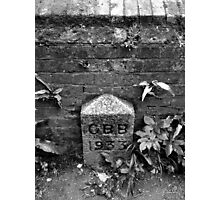 Boundary Stone Photographic Print