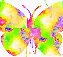 Watercolor Butterfly by Anthony Ross