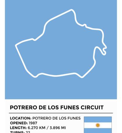 Potrero de los Funes Circuit - v2 Sticker