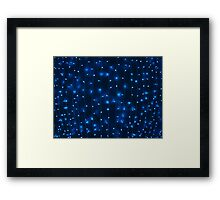 Defocused and blur image of garland of blue led Framed Print