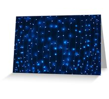 Defocused and blur image of garland of blue led Greeting Card