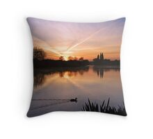 River Thames Sunrise Throw Pillow