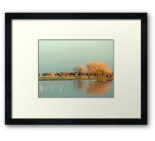 Before The Snow Storm  Framed Print