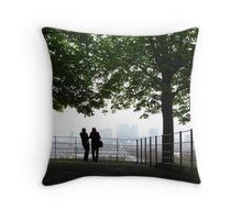 London Docklands from Greenwich Throw Pillow