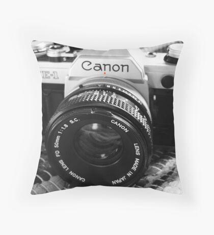 Canon AE-1 Throw Pillow