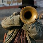 Singer guy on San Carlo bridge in Prague by wichwetyl