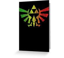 Rasta Triforce Greeting Card