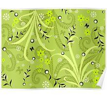 * green garden pattern * Poster