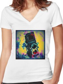 I love my Rollei 2 Women's Fitted V-Neck T-Shirt