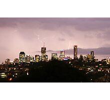 Lit Up - Brisbane CBD, Queensland Photographic Print