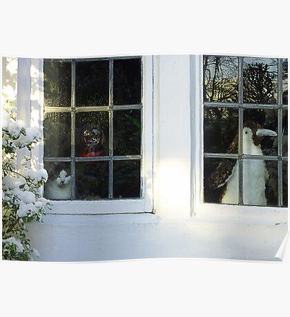 Snow Go. Snow Stay. Lancashire, England. Poster