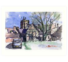 Newport, Shropshire Art Print