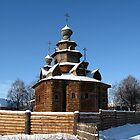 Wooden church, winter by Yulia Manko
