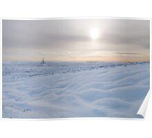 Snow Boulders Poster