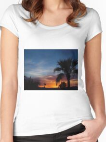 Paradise Night Women's Fitted Scoop T-Shirt