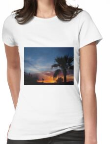 Paradise Night Womens Fitted T-Shirt