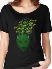 Sea Buffalo Dreaming Green Heart  Women's Relaxed Fit T-Shirt