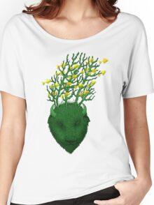 Sea Buffalo Dreaming Green Heart  Women's Relaxed Fit T-Shirt