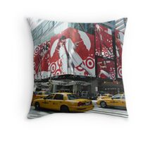 Targeting in NYC Throw Pillow