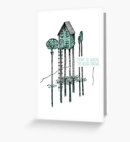 House, Home Greeting Card