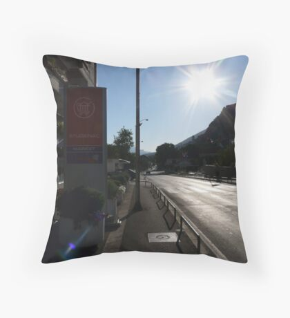 Glowing Street, Vrgorac Throw Pillow