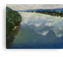 Ohio River Painting Canvas Print
