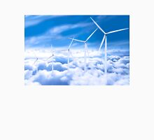 Wind turbines over Copenhagen blue sky, Denmark Unisex T-Shirt