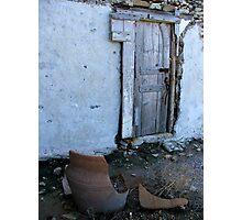 Door and Crock Photographic Print
