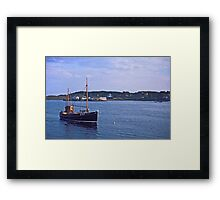 Fishing boat returning to Killybegs Harbour, Donegal, Ireland, circa 1959 Framed Print