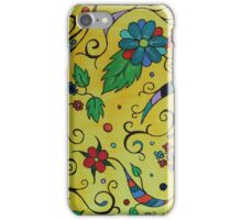 Swirls and flowers iPhone Case/Skin