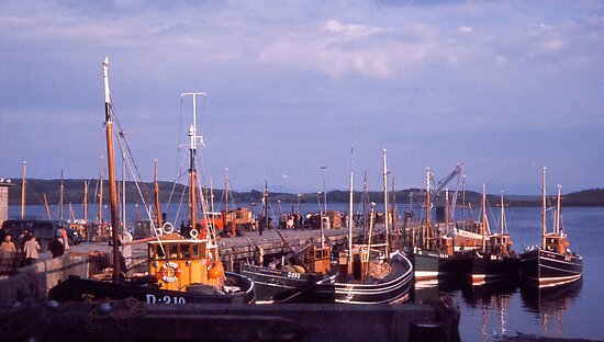 Killybegs Harbour, Donegal, Ireland, cira 1959 by Andrew Jones