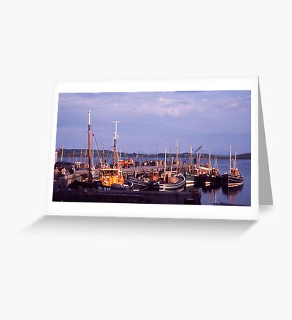 Killybegs Harbour, Donegal, Ireland, cira 1959 Greeting Card