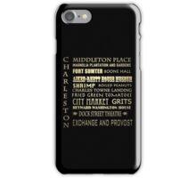 Charleston South Carolina Famous Landmarks iPhone Case/Skin