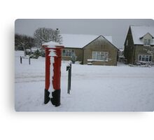 The Postbox in Bussage Canvas Print