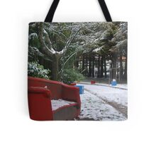 bits and pieces red and blue Tote Bag
