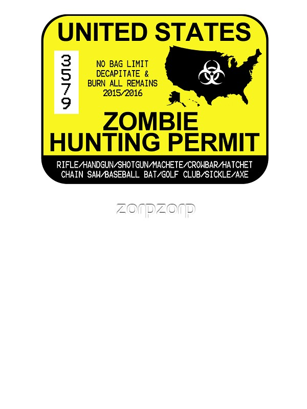 Zombie Hunting Permit ...
