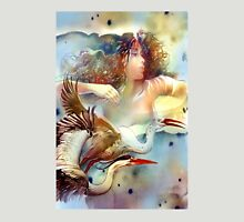"""Dancing with Birds"" - - postcard & greeting card Unisex T-Shirt"