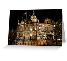Bank of Scotland Headquarters - Edinburgh Greeting Card