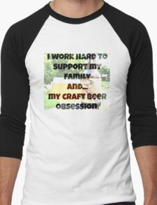 Craft beer obsession Men's Baseball ¾ T-Shirt