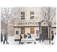The Brunswick pub under the snow Poster