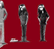 Rag Doll Type O Negative (Dark Red) by Hannah Christine Nicholson