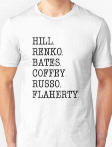Hill Street Blues - Cast Roll Call (uniform officers) T-Shirt