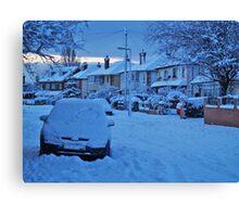 Snowy Suburbia Canvas Print