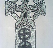 Alpha Celtic Cross by Risteárd Ó' hAllmhuráin
