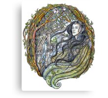 Spring in elven city Canvas Print