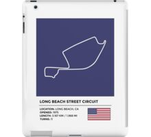 Long Beach Street Circuit - v2 iPad Case/Skin