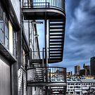 Walsh Bay Wharf stairs by Jason Ruth