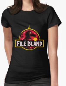 File Island Womens Fitted T-Shirt