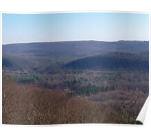 Late Autumn in the Catskills Poster